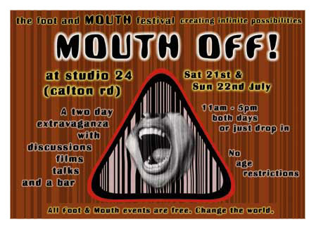 Mouth event flyer